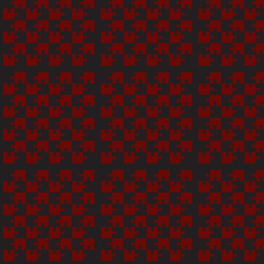 Puzzle Piece Block Grid Red Gray Black