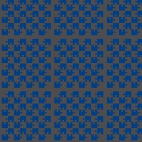 Puzzle Piece Block Grid Blue Gray