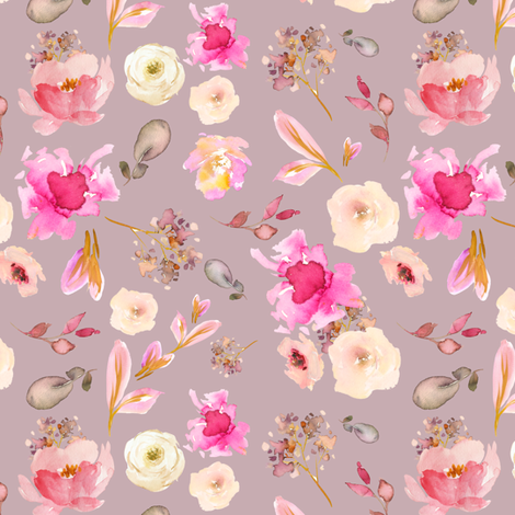 """6"""" Pink Whisper - Vintage Rose fabric by shopcabin on Spoonflower - custom fabric"""