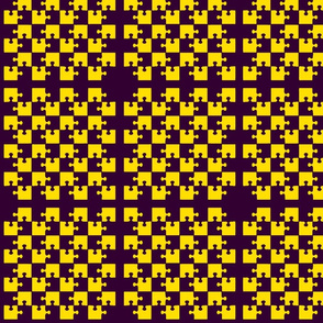 Puzzle Piece Block Grid Purple Gold Yellow