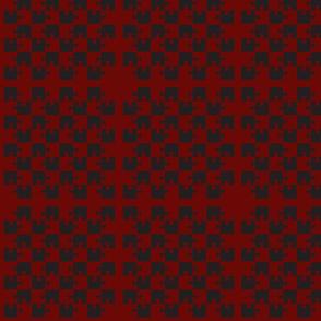 Puzzle Piece Block Grid Black Red