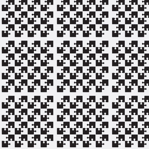 Puzzle Piece Block Grid Black