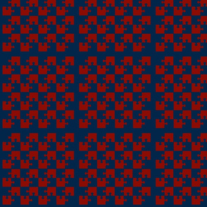 Puzzle Piece Block Grid Red Blue