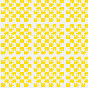 Puzzle Piece Block Grid Yellow
