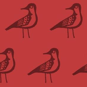 Doodle Bird - Red