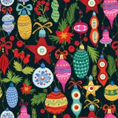Festive Ornaments - Black