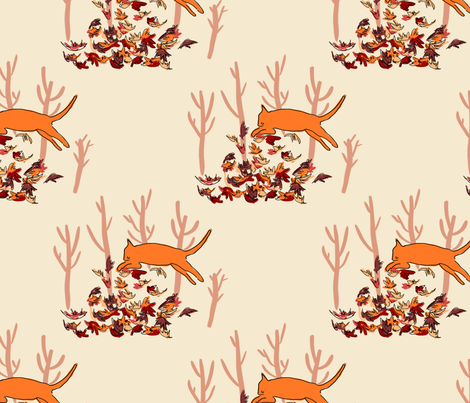autumn_cats fabric by aliciazwicewicz on Spoonflower - custom fabric