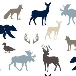 woodland animals - rustic woods collection