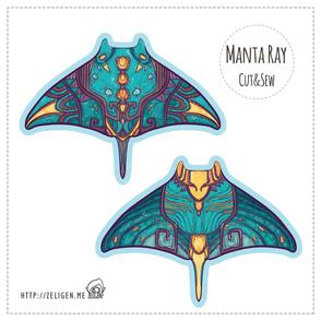 Manta Ray cut and sew plushie