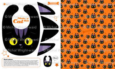 Black Cat Baby Toddler Bib - A Halloween Cut and Sew Project