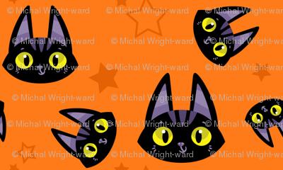 A Witch's Best Friend - Cute Black Cat and Stars
