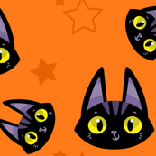A Witch's Best Friend - Cute Black Cat and Stars