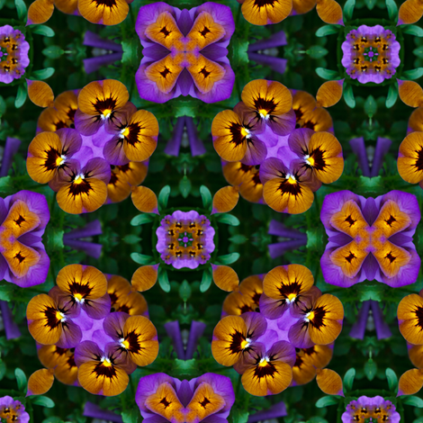 Pansy_Infinity_2 fabric by karwilbedesigns on Spoonflower - custom fabric