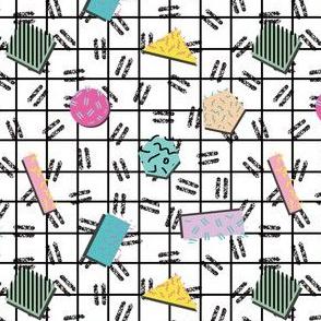Postmodern Grid Confetti
