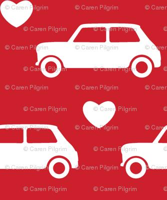 Mini Cooper Hearts - Red- Small