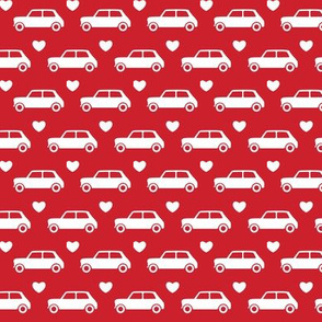 Mini Cooper Hearts - Red- Small