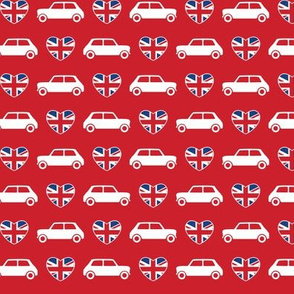 Mini Cooper Hearts - Union Jack Red - Small