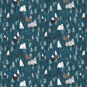 Forest Peaks (MICRO) (midnight blue)
