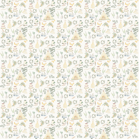 Bohemian Wedding mini fabric by frumafar on Spoonflower - custom fabric