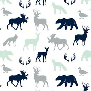 (small scale) woodland animals - northern lights collection