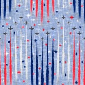Vintage Patriotic Flyover