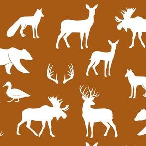woodland animals - dark maple