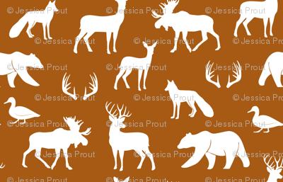 (small scale) woodland animals - dark maple