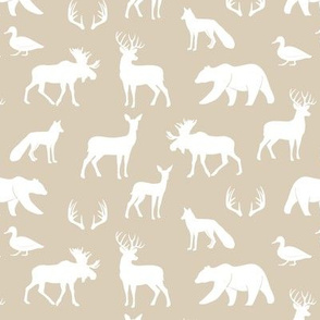 (small scale) woodland animals - rustic woods tan