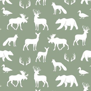 (small scale) woodland animals on sage