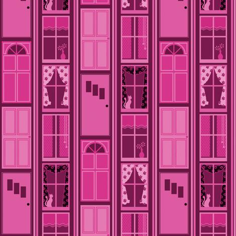 Doors and Windows - Raspberry fabric by siya on Spoonflower - custom fabric