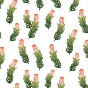 Protea Rich Green and Peach