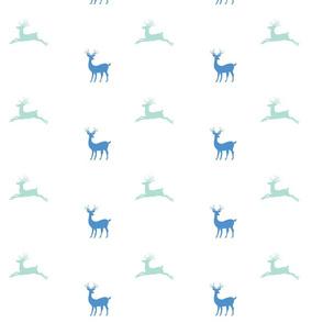Deer 7 - ocean seafoam mist