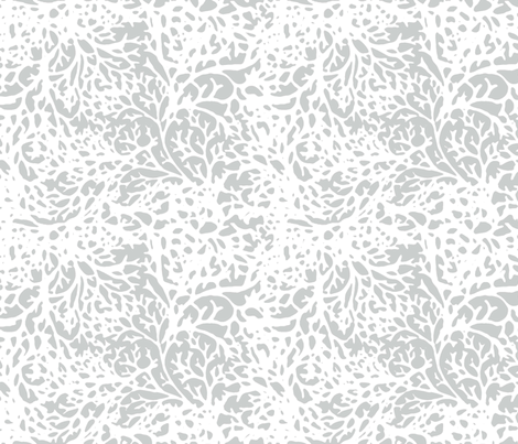 White Branches on Grey fabric by engravogirl on Spoonflower - custom fabric