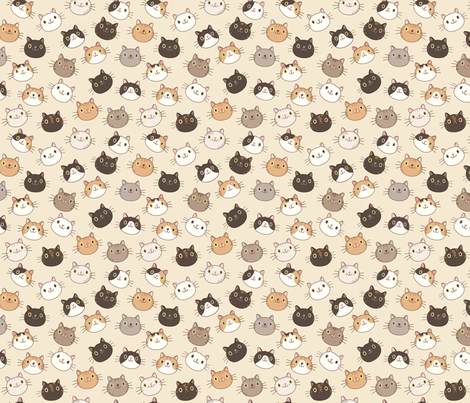 Happy Cats fabric by clarevacha on Spoonflower - custom fabric