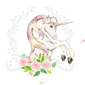 "8"" Sweet Floral Unicorn"
