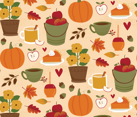 Cozy Fall fabric by designs_by_lisa_k on Spoonflower - custom fabric