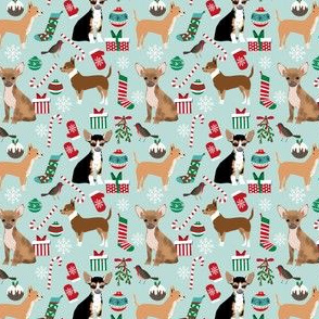 chihuahua dogs fabric cute christmas designs best chihuahuas dog fabric cute chihuahuas christmas
