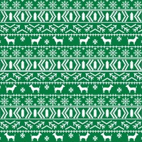 chihuahua dog fabrics cute xmas holiday fair isle design cute green christmas fabric