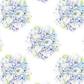 Hydrangea and calla
