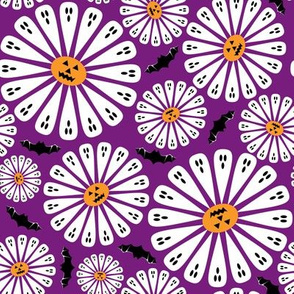 Halloween Floral Purple