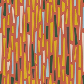Saul Bass Rustic Falling Stripes