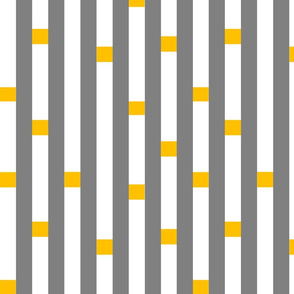 broken stripe mustard yellow grey