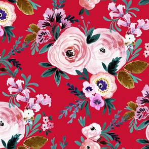 Victoria Floral red