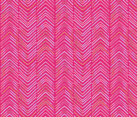 boho chevrons fabric by groundfeather_studio on Spoonflower - custom fabric