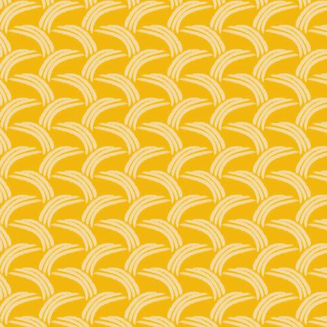 Wheatfield Thatch - Goldenrod fabric by siya on Spoonflower - custom fabric
