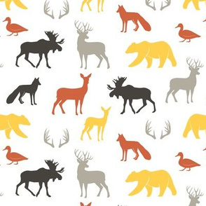 (small scale) woodland animals - fall colors