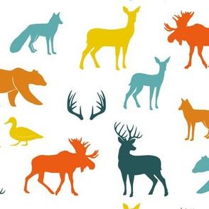 woodland animals - auburn