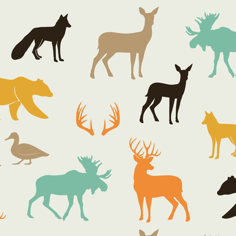 woodland animals in rye fabric by littlearrowdesign on Spoonflower - custom fabric