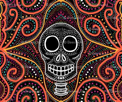 Skull swirls