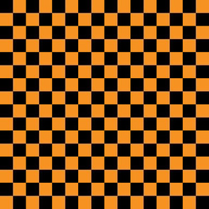 Checkerboard Black-Orange